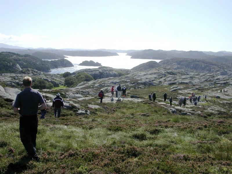 """""""Fjellvandring"""" på Hanøyo"""