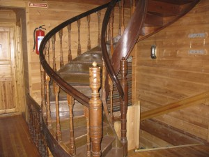 Trappeoppgang frå  Gamle Hardanger hotell, no i Ungdomshallen