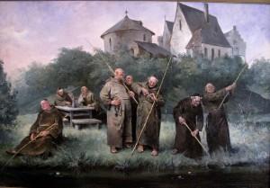Eit av Bergslien sine maleri på Tyssedal hotell