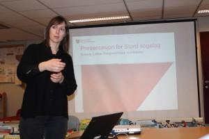 Føredragshaldaren  Heidi Handeland
