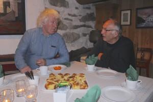 Lars Mæland og Jon Kyvik i samtale om årsskriftet